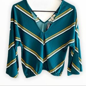 EXPRESS striped crop top size XS nwt